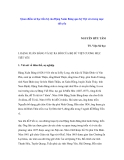 """Báo cáo nghiên cứu khoa học """" Quan điểm sử học tiến bộ của Đặng Xuân Bảng qua bộ Việt sử cương mục tiết yếu """""""
