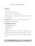Bài : 36 ĐẶC ĐIỂM ĐẤT VIỆT NAM