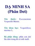 DẠ MINH SA (Phân Dơi)