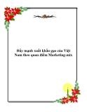 Đề tài: Đẩy mạnh xuất khẩu gạo của Việt Nam theo quan  điể Marketing-mix