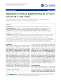 "Báo cáo y học: "" Implication of human papillomavirus-66 in vulvar carcinoma: a case report"""