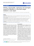 "Báo cáo y học: "" Arthritis, osteomyelitis, septicemia and meningitis caused by Klebsiella in a low-birth-weight newborn: a case report"""