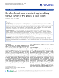 """Báo cáo y học: """" Renal cell carcinoma metastasizing to solitary fibrous tumor of the pleura: a case report"""""""