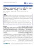 "Báo cáo y học: ""Malignant neuroleptic syndrome following deep brain stimulation surgery: a case report"""