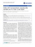 "Báo cáo y học: ""Stroke with neuropsychiatric sequelae after cannabis use in a man: a case report"""