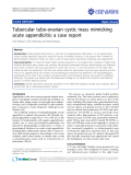 """Báo cáo y học: """"Tubercular tubo-ovarian cystic mass mimicking acute appendicitis: a case report"""""""