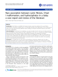 "Báo cáo y học: ""Rare association between cystic fibrosis, Chiari I malformation, and hydrocephalus in a baby: a case report and review of the literature"""