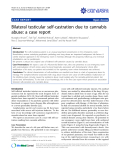 """báo cáo khoa học: """"Bilateral testicular self-castration due to cannabis abuse: a case report"""""""
