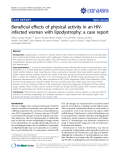 """báo cáo khoa học: """" Beneficial effects of physical activity in an HIVinfected woman with lipodystrophy: a case report"""""""