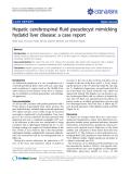 "báo cáo khoa học: ""Hepatic cerebrospinal fluid pseudocyst mimicking hydatid liver disease: a case report"""