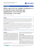 "báo cáo khoa học: "" Diffuse large B-cell non Hodgkin's lymphoma in a 65-year-old woman presenting with hypopituitarism and recovering after chemotherapy: a case report"""