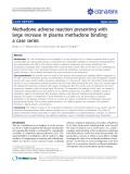 "báo cáo khoa học: ""Methadone adverse reaction presenting with large increase in plasma methadone binding: a case series"""
