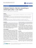"báo cáo khoa học: ""Unilateral thalamic infarction presenting as vertical gaze palsy: a case report"""