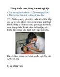 Dùng thuốc cam, hàng loạt trẻ ngộ độc