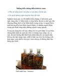 Những biến chứng thần kinh do rượu