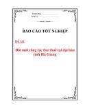 Luận văn: Đổi mới công tác thu thuế tại đại bàn tỉnh Hà Giang