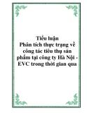 Tiểu luận - Phân tích thực trạng về công tác tiêu thụ sản phẩm tại công ty Hà Nội - EVC trong thời gian qua