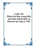 Luận văn - Phân tích thực trạng hiệu quả kinh doanh dịch vụ Internet tại công ty VDC