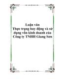 Luận văn - Thực trạng huy động và sử dụng vốn kinh doanh của Công ty TNHH Giang Sơn