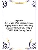 Luận văn: Một số giải pháp nhằm nâng cao hoạt động xuất nhập khẩu hàng thủ công mỹ nghệ của công ty TNHH XNK Cường Thịnh