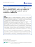 """Báo cáo y học: """" Severe refractory autoimmune hemolytic anemia with both warm and cold autoantibodies that responded completely to a single cycle of rituximab: a case report"""""""