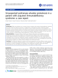 """báo cáo khoa học: """"Unsuspected pulmonary alveolar proteinosis in a patient with acquired immunodeficiency syndrome: a case report"""""""