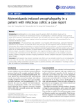 "Báo cáo y học: ""Treatment of stasis dermatitis using aminaphtone: Metronidazole-induced encephalopathy in a patient with infectious colitis: a case repo"""