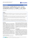 """Báo cáo y học: """"Treatment of stasis dermatitis using aminaphtone: Inflammatory myofibroblastic tumor causing unexplained anemia in a toddler: a case report"""""""