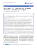 """Báo cáo y học: """"Treatment of stasis dermatitis using aminaphtone: Blunt trauma as a suspected cause of delayed constrictive pericarditis: a case report."""""""