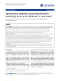 """Báo cáo y học: """"  Spontaneous idiopathic pneumoperitoneum presenting as an acute abdomen: a case repor"""""""
