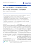 "Báo cáo y học: ""Recurrent tibial intra-cortical osteosarcoma: a case report and review of the literature"""