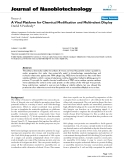 """báo cáo khoa học: """" A Viral Platform for Chemical Modification and Multivalent Display"""""""