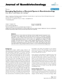 "báo cáo khoa học: ""Emerging Applications of Bacterial Spores in Nanobiotechnology"""