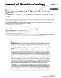 "báo cáo khoa học: ""Direct microcontact printing of oligonucleotides for biochip applications"""