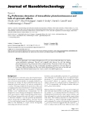"""báo cáo khoa học: """"C60-Fullerenes: detection of intracellular photoluminescence and lack of cytotoxic effects"""""""