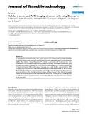 "báo cáo khoa học: ""Cellular transfer and AFM imaging of cancer cells using Bioimprint"""