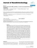 "báo cáo khoa học: ""Canine parvovirus-like particles, a novel nanomaterial for tumor targeting"""