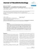 "báo cáo khoa học: ""Quantum dots – a versatile tool in plant science?"""