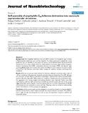 "báo cáo khoa học: ""Self assembly of amphiphilic C60 fullerene derivatives into nanoscale supramolecular structures"""