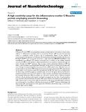 "báo cáo khoa học: "" A high sensitivity assay for the inflammatory marker C-Reactive protein employing acoustic biosensing"""