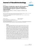 "báo cáo khoa học: ""Formulation of polylactide-co-glycolic acid nanospheres for encapsulation and sustained release of poly(ethylene imine)-poly(ethylene glycol) copolymers complexed to oligonucleotides"""