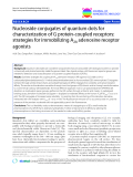 """báo cáo khoa học: """" Nucleoside conjugates of quantum dots for characterization of G protein-coupled receptors: strategies for immobilizing A2A adenosine receptor agonists"""""""