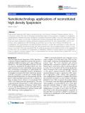 "báo cáo khoa học: ""Nanobiotechnology applications of reconstituted high density lipoprotein"""