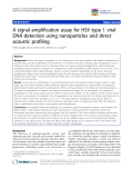 """báo cáo khoa học: """"A signal amplification assay for HSV type 1 viral DNA detection using nanoparticles and direct acoustic profiling"""""""