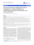 """báo cáo khoa học: """" On-chip constructive cell-Network study (I): Contribution of cardiac fibroblasts to cardiomyocyte beating synchronization and community effect"""""""