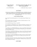 Quyết định số 17/2011/QĐ-UBND