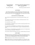 Quyết định số 22/2011/QĐ-UBND