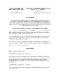 Quyết định số 2728/QĐ-BNN-TC
