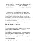 Thông tư số 78/2011/TT-BNNPTNT