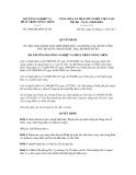 Quyết định số 2890/QĐ-BNN-TCCB